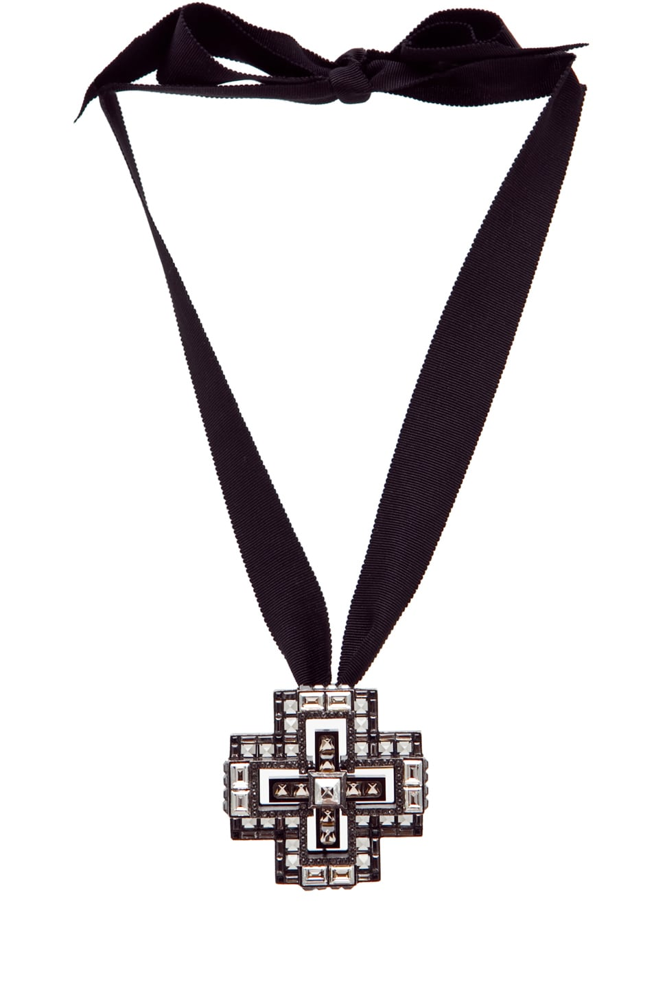 Image 1 of Lanvin Cross Necklace in Silver