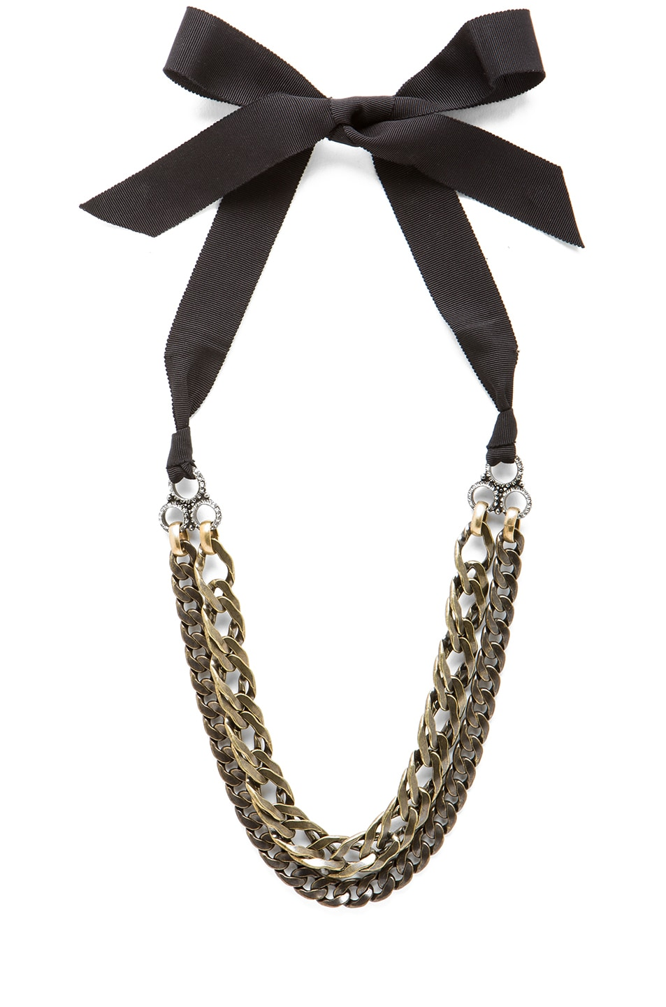 Image 1 of Lanvin Chain Necklace in Cristal