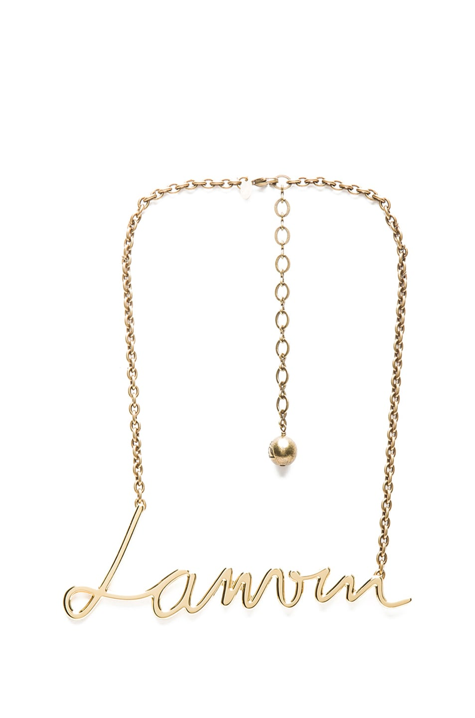 Image 1 of Lanvin Logo Pendant in Gold