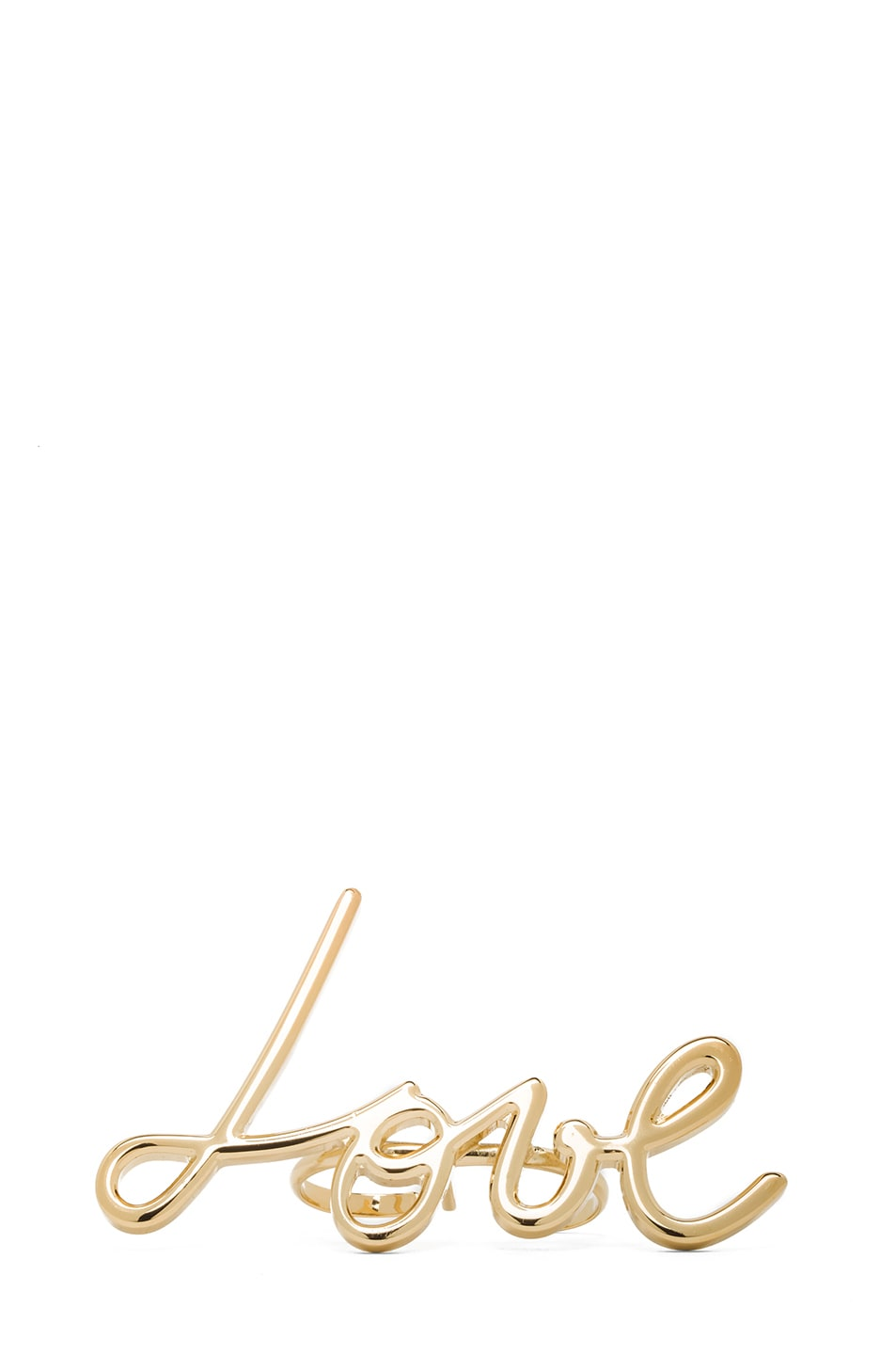 Image 1 of Lanvin Love Ring in Gold