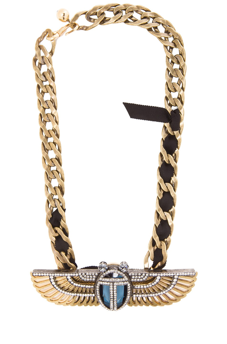 Image 1 of Lanvin Egyptian Necklace in Cristal