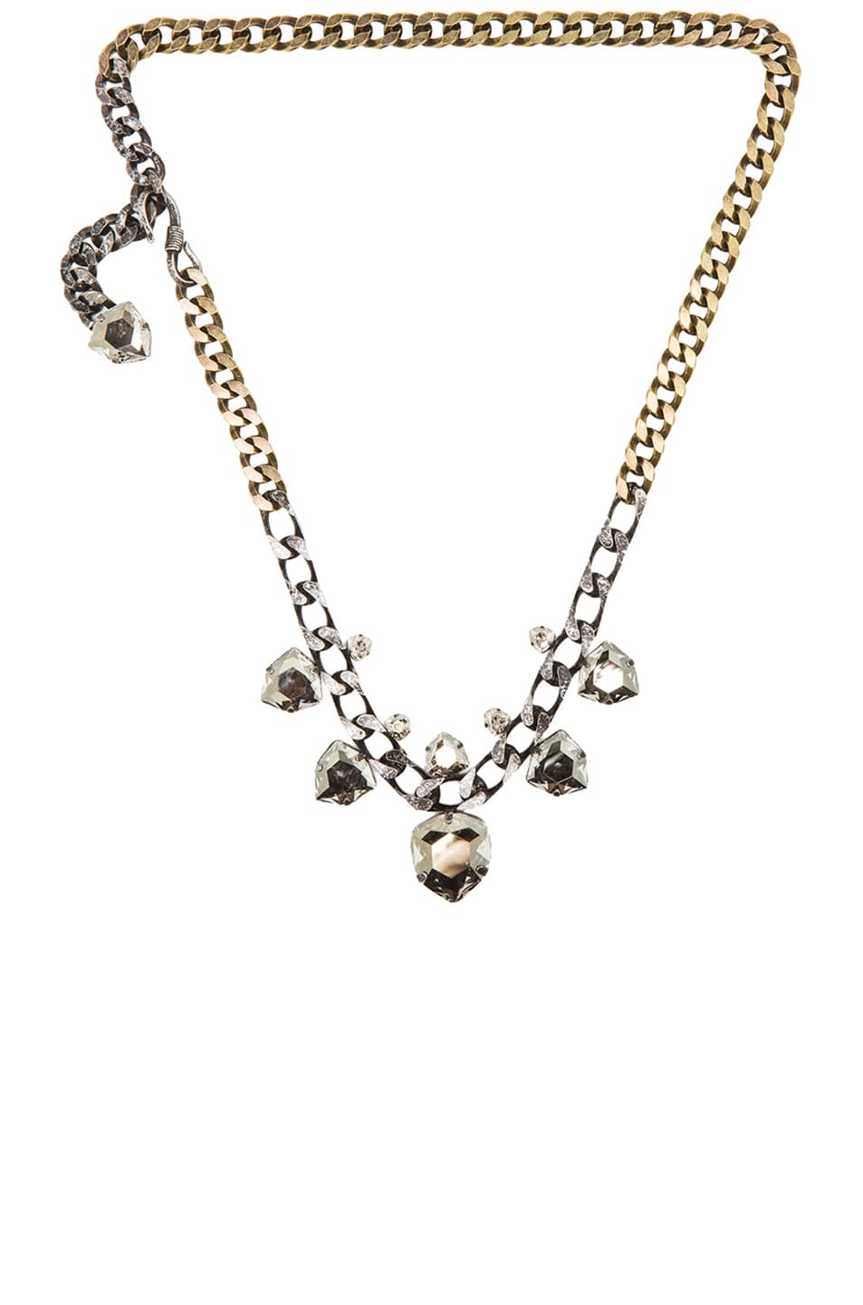 Image 1 of Lanvin Punk Multi Pendant Necklace in Crystal