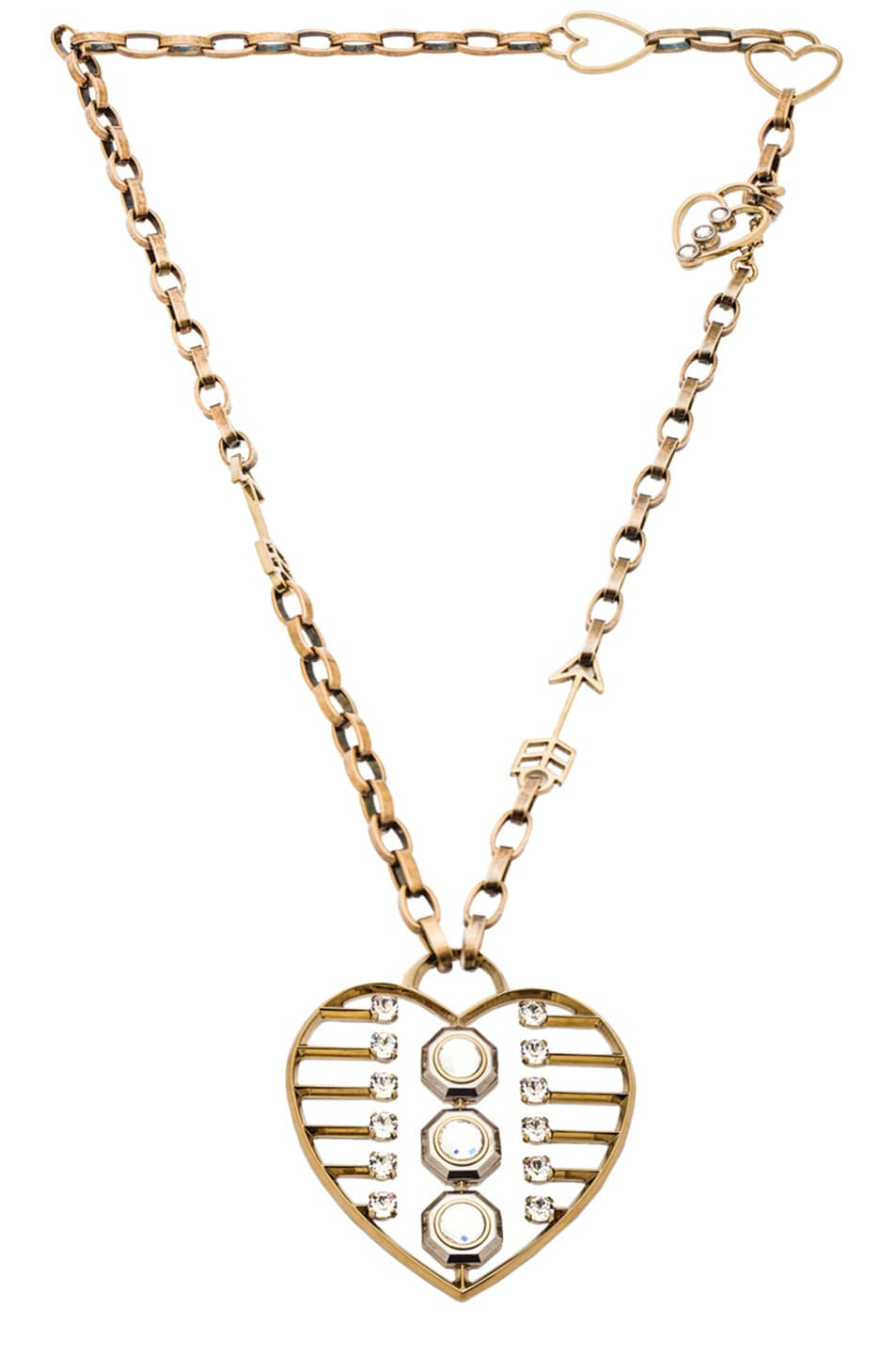 Image 1 of Lanvin Heart Pendant Necklace in Gold