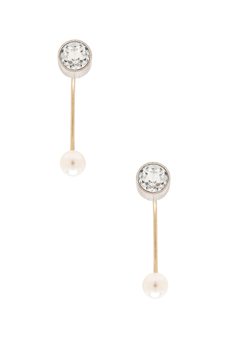 Image 1 of Lanvin Ear Cuffs With Pearl in Crystal