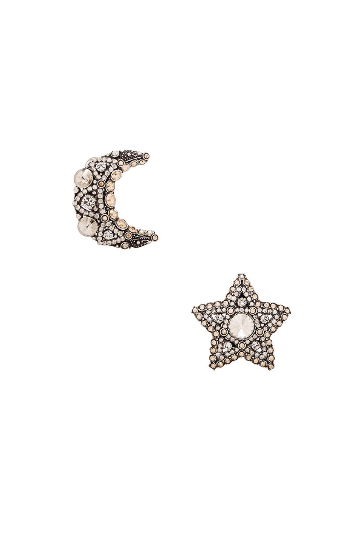 Image 1 of Lanvin Star & Moon Earrings in Gold