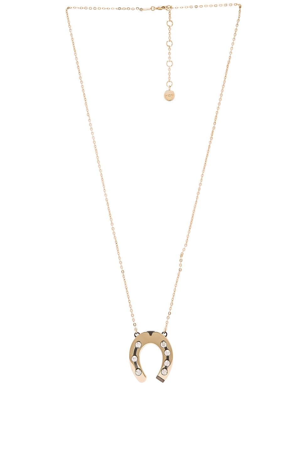 Image 1 of Lanvin Pendant Horseshoe Necklace in Gold