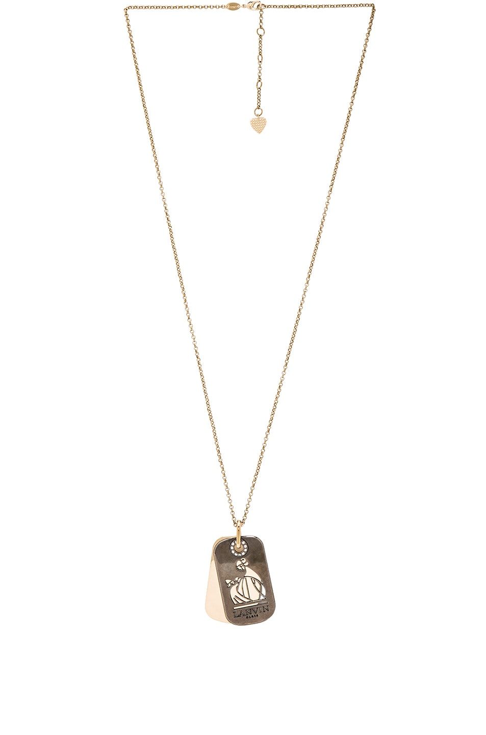 Image 1 of Lanvin Pendant Military Medal Necklace in Gold