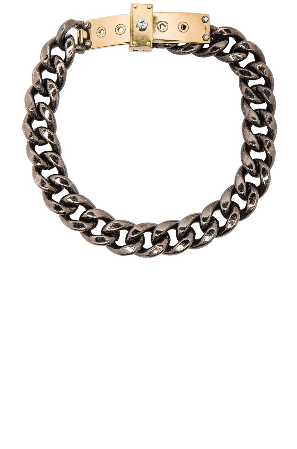 Image 1 of Lanvin Chain Choker Necklace in Gold & Silver