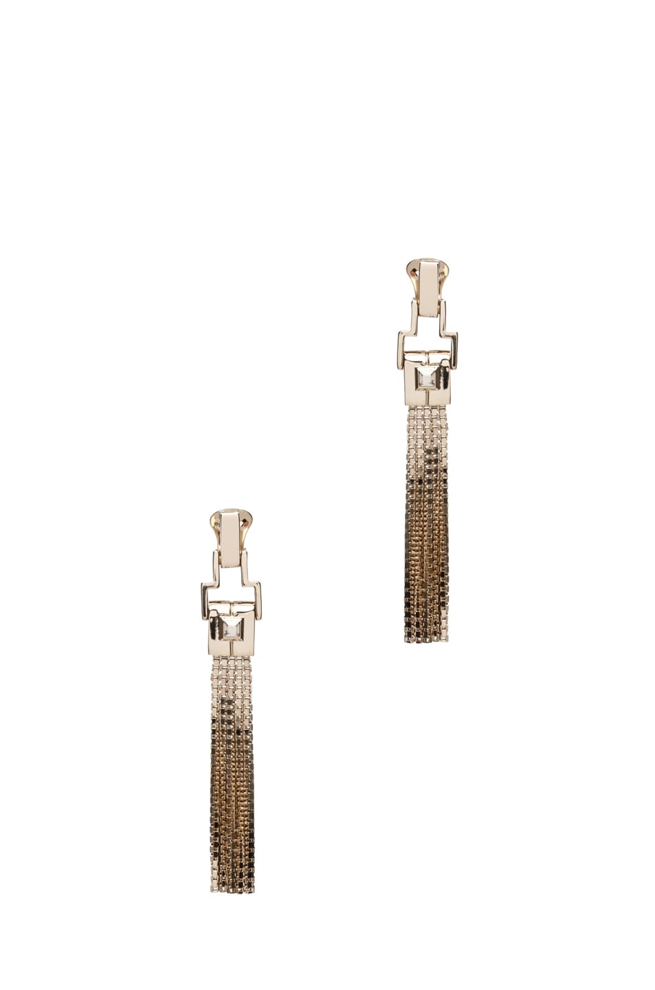 Image 1 of Lanvin Fringe Earrings in Gold