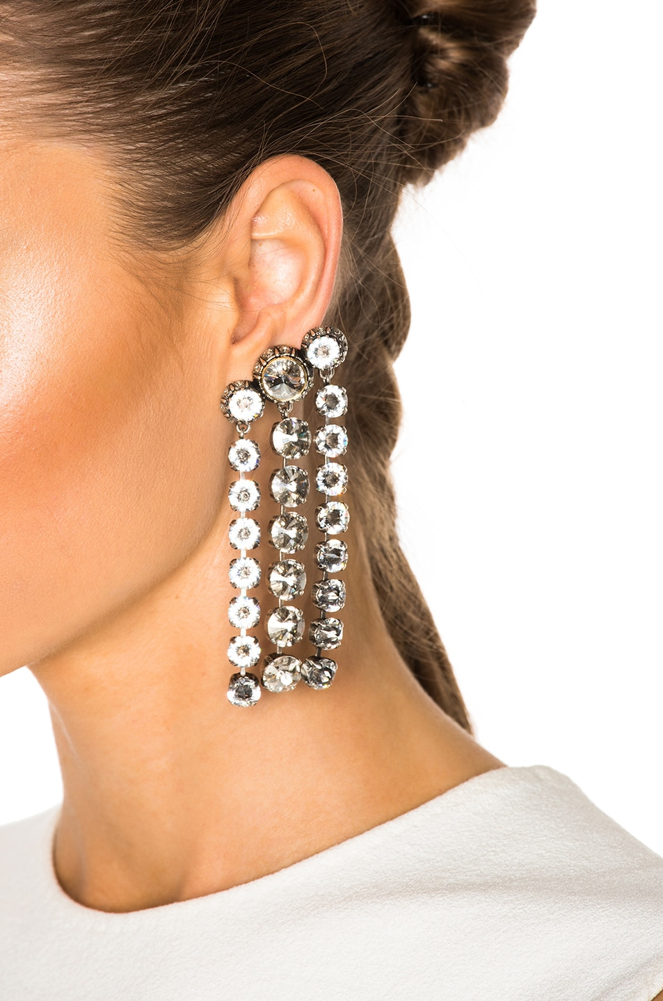 Image 4 Of Lanvin Drop Earrings In Crystal