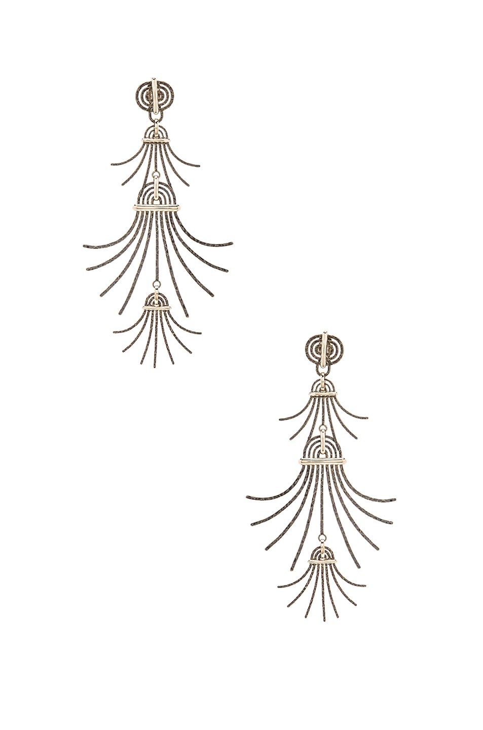 Image 1 of Lanvin Extra Long Earrings in Gold