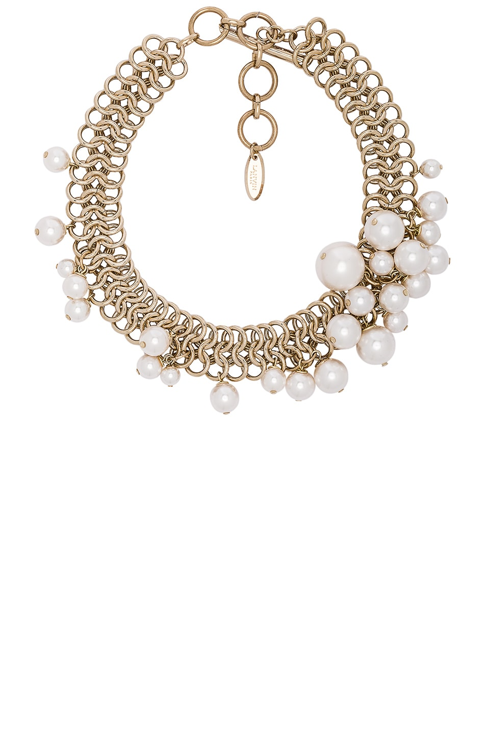 Image 1 of Lanvin Pearl Choker Necklace in White