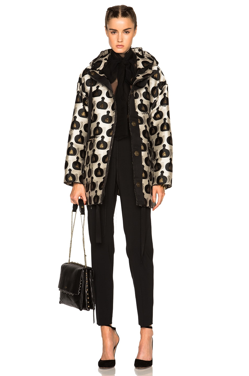 Image 1 of Lanvin Jacquard Parfum Parka in Multi