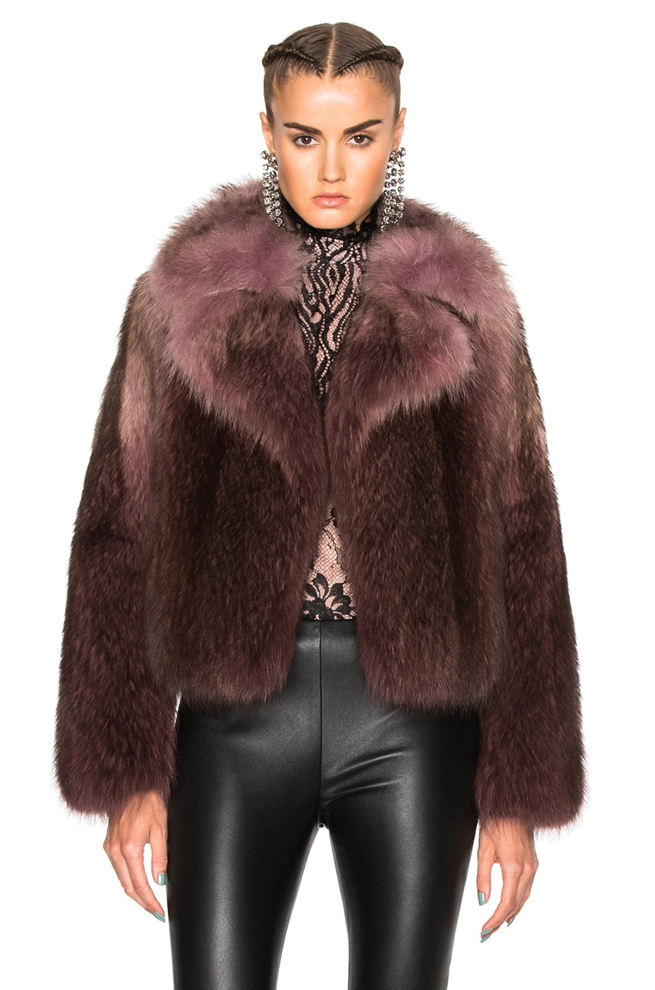 Image 1 of Lanvin Racoon Fur Jacket in Parme