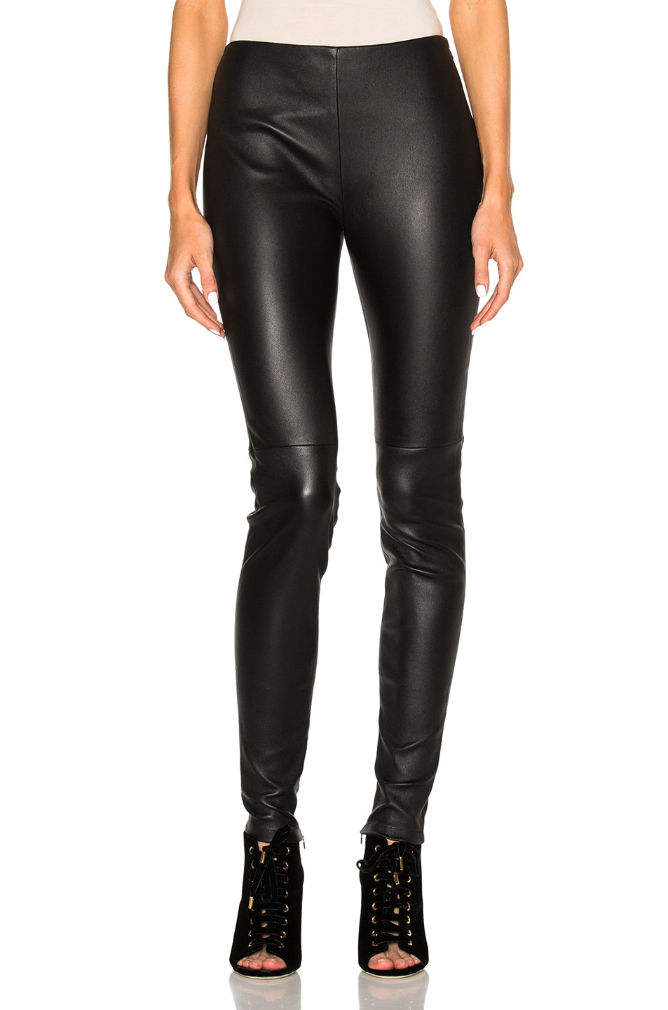 Image 1 of Lanvin Leather Pants in Black
