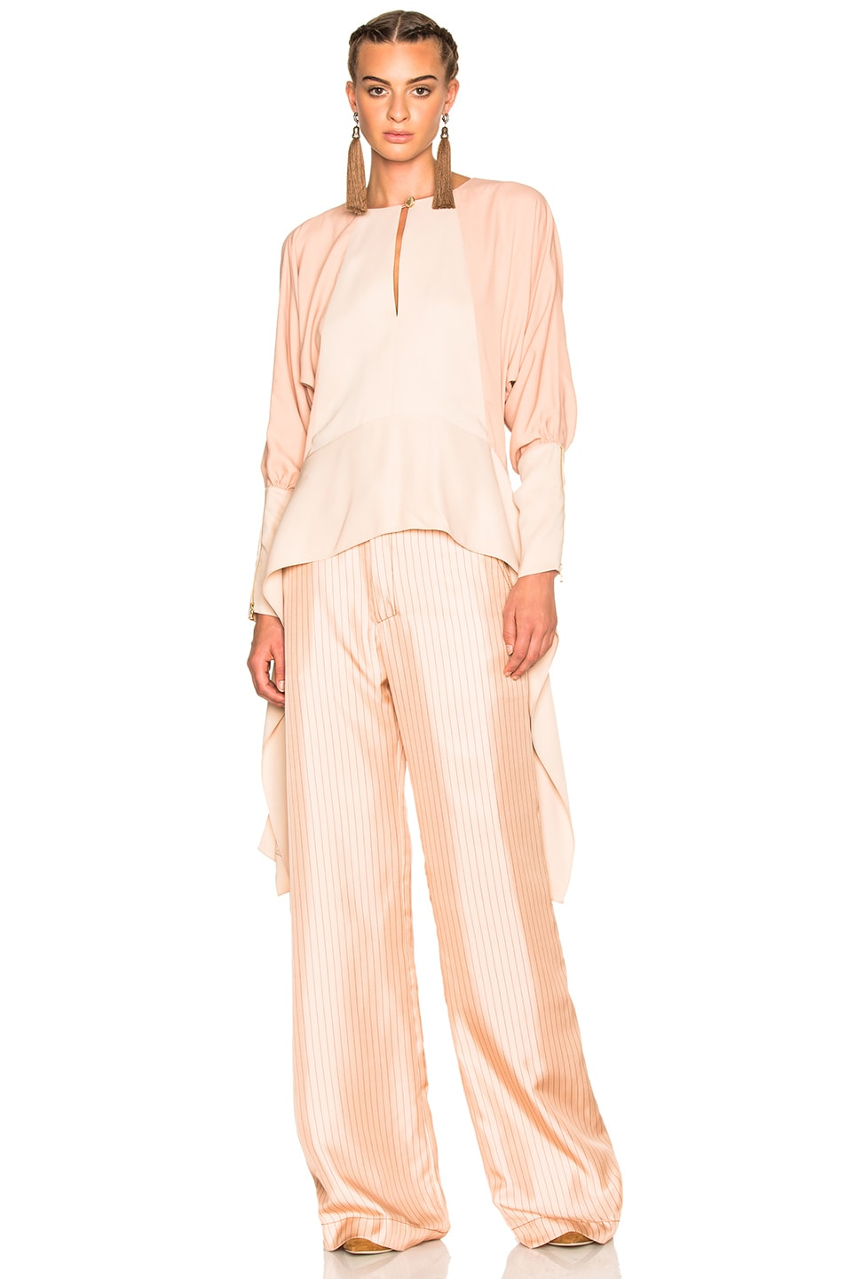 Image 1 of Lanvin Silk Woven Top in Blush