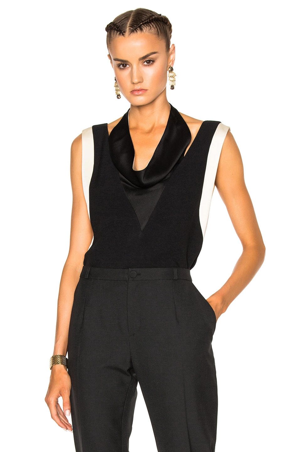 Image 1 of Lanvin Drape Top in Black