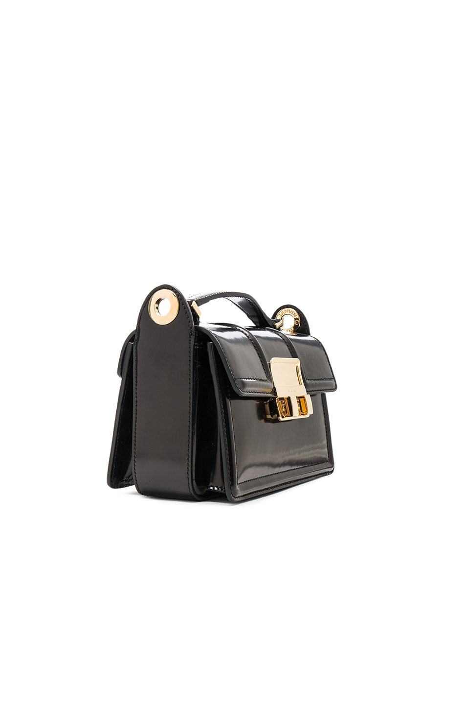Image 4 of Lanvin Small Jiji Box Bag in Black