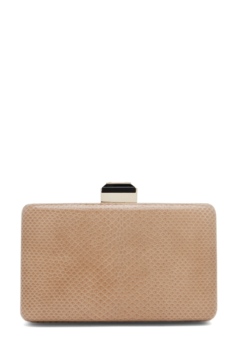 Image 2 of Lanvin Mini Serpent Clutch in Beige