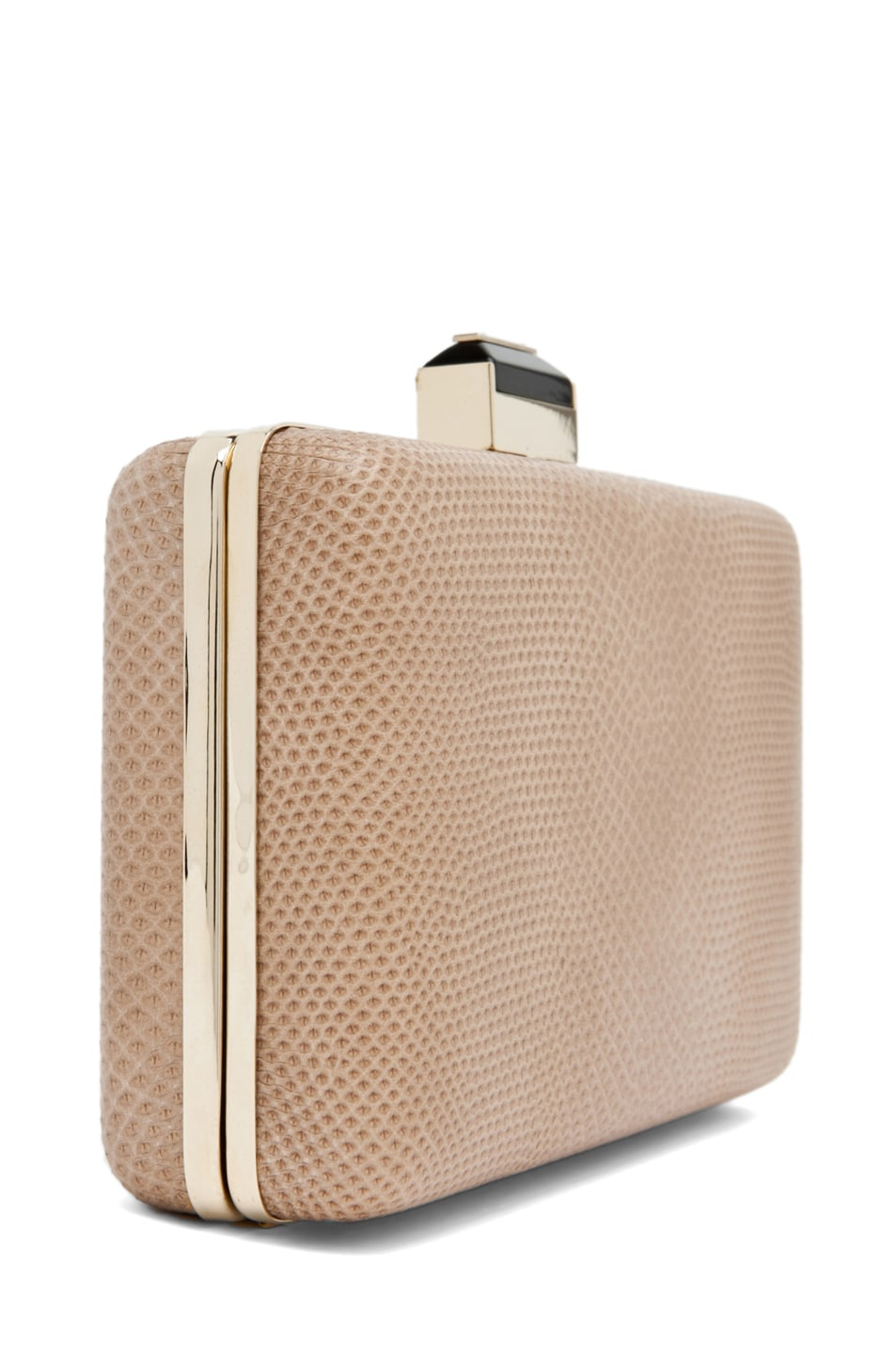 Image 3 of Lanvin Mini Serpent Clutch in Beige