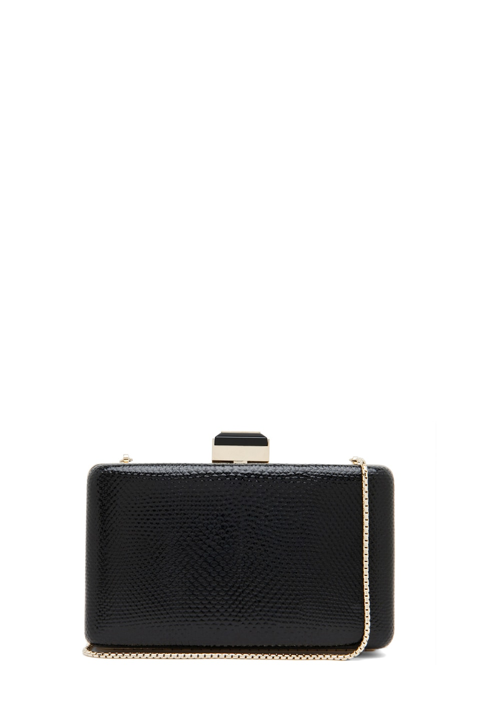 Image 1 of Lanvin Mini Serpent Clutch in Black