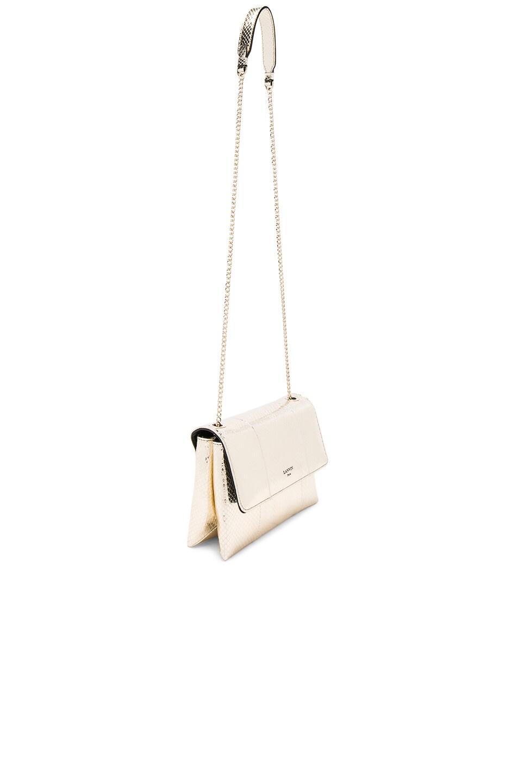 Image 3 of Lanvin Snake Skin Mini Sugar Bag in Light Gold