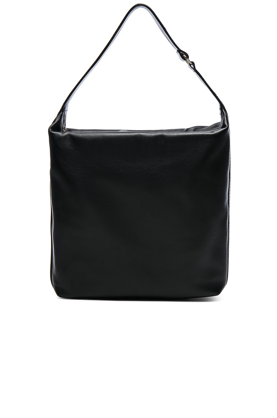 Image 1 of Lanvin Calf Leather Medium Hobo Bag in Black