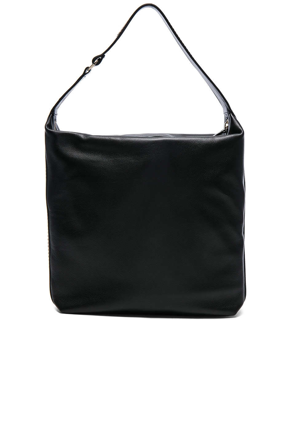 Image 2 of Lanvin Calf Leather Medium Hobo Bag in Black