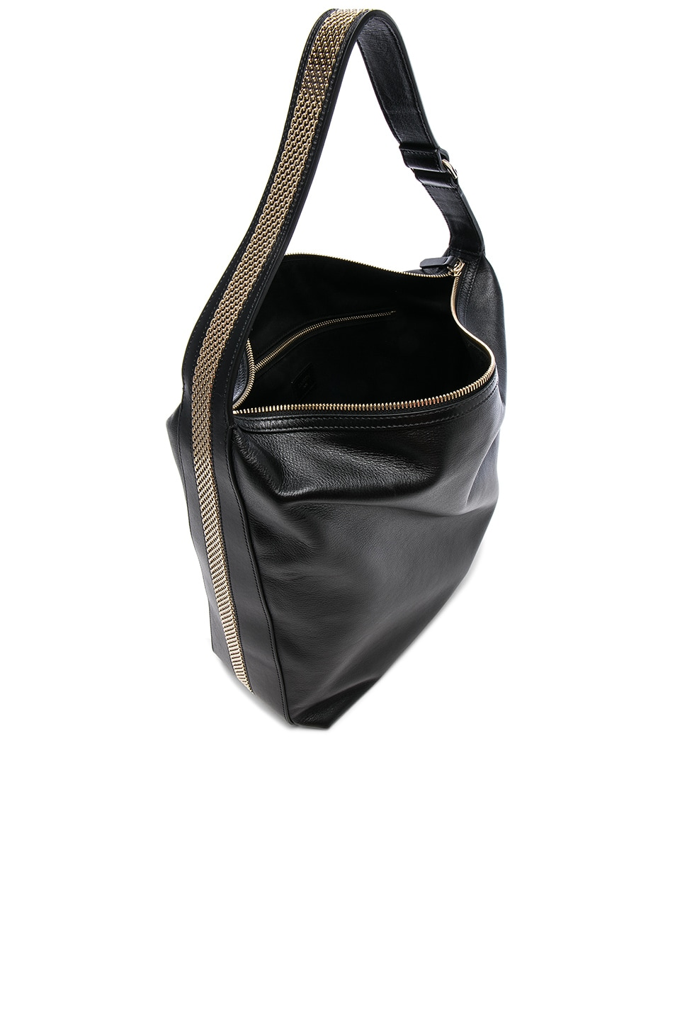 Image 4 of Lanvin Calf Leather Medium Hobo Bag in Black