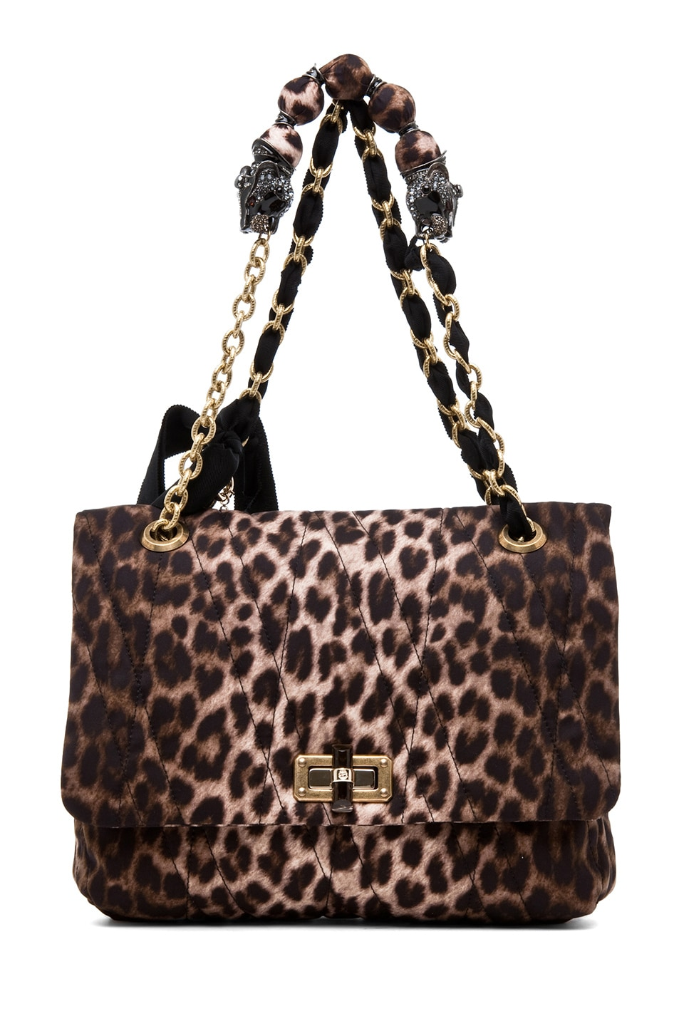 Image 1 of Lanvin 10 Year Anniversary Happy Handbag in Leopard
