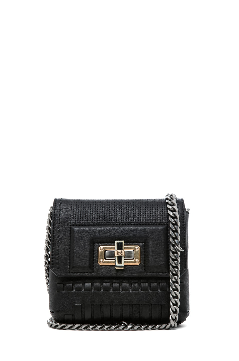 Image 1 of Lanvin Mini Pop Happy Bag in Noir