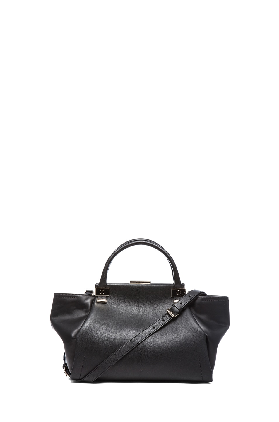 Image 1 of Lanvin Small Trilogy Tote in Black