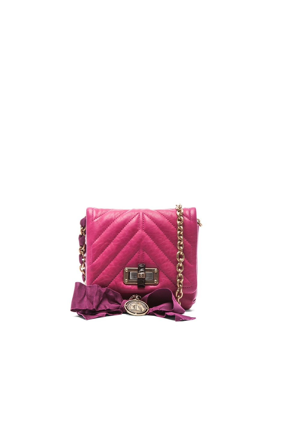 Image 1 of Lanvin Mini Happy Quilted Pop in Fuchsia