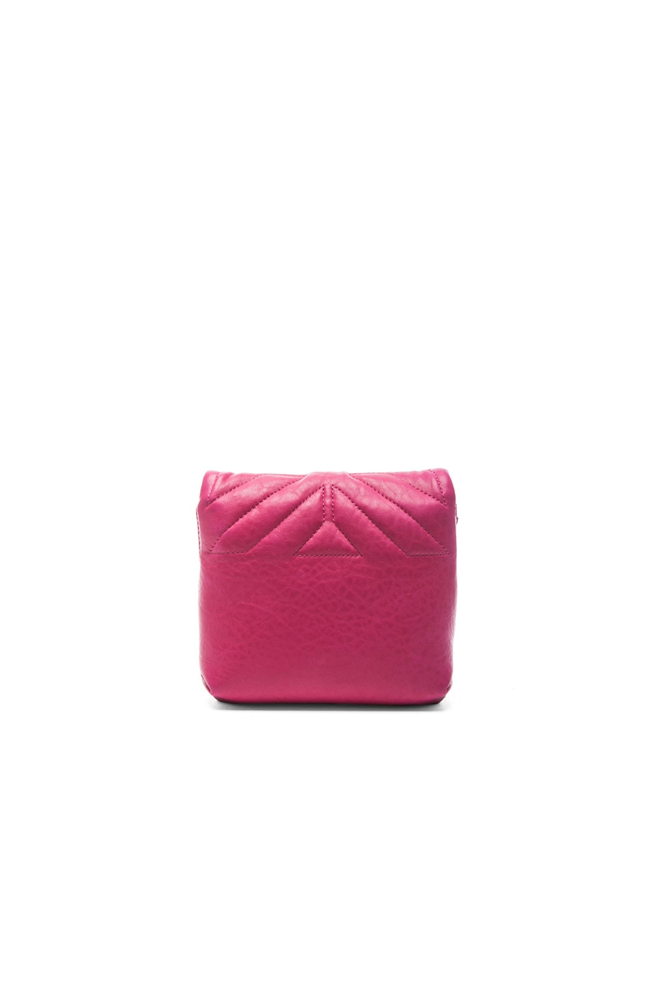 Image 3 of Lanvin Mini Happy Quilted Pop in Fuchsia