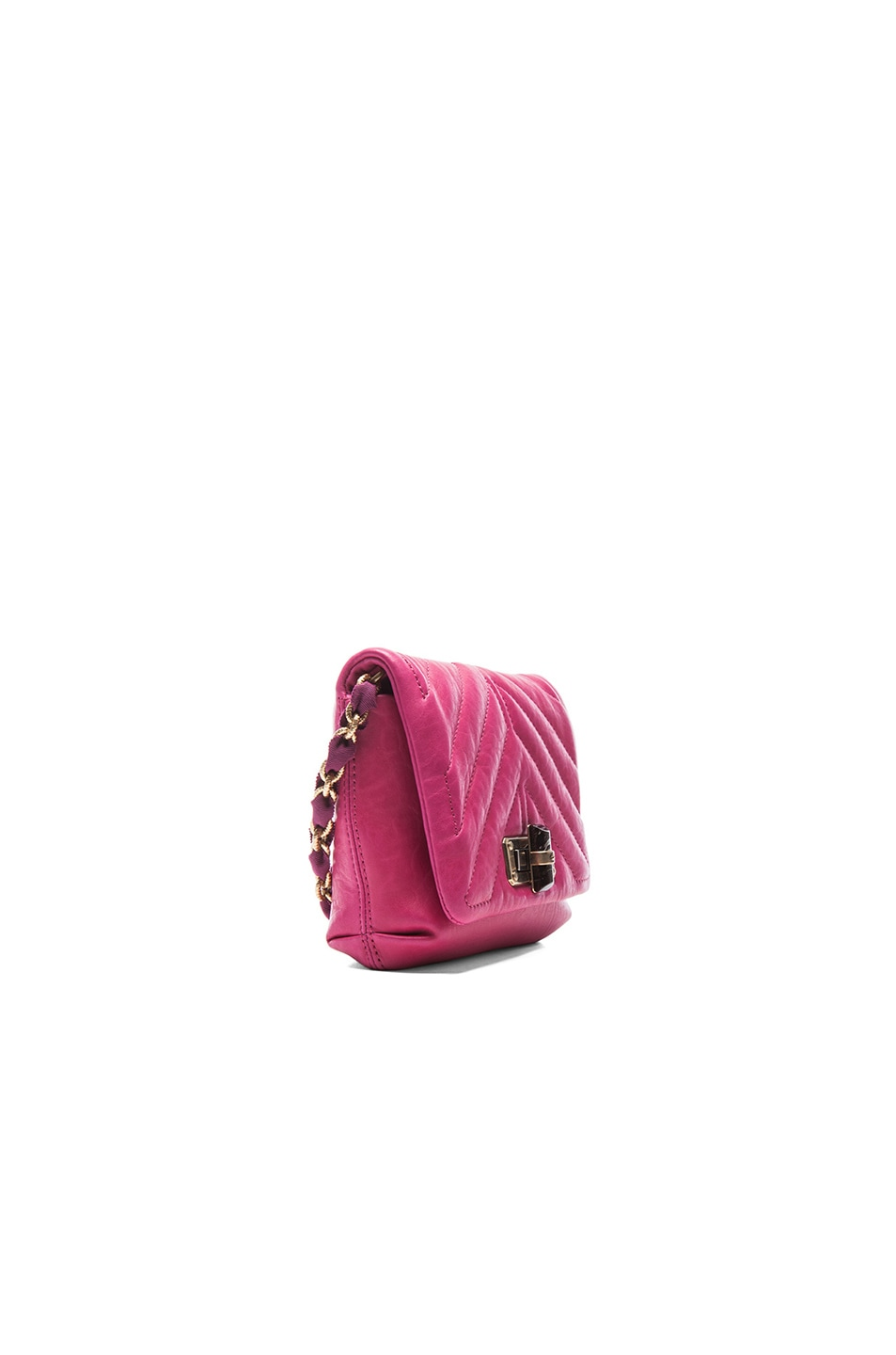 Image 4 of Lanvin Mini Happy Quilted Pop in Fuchsia
