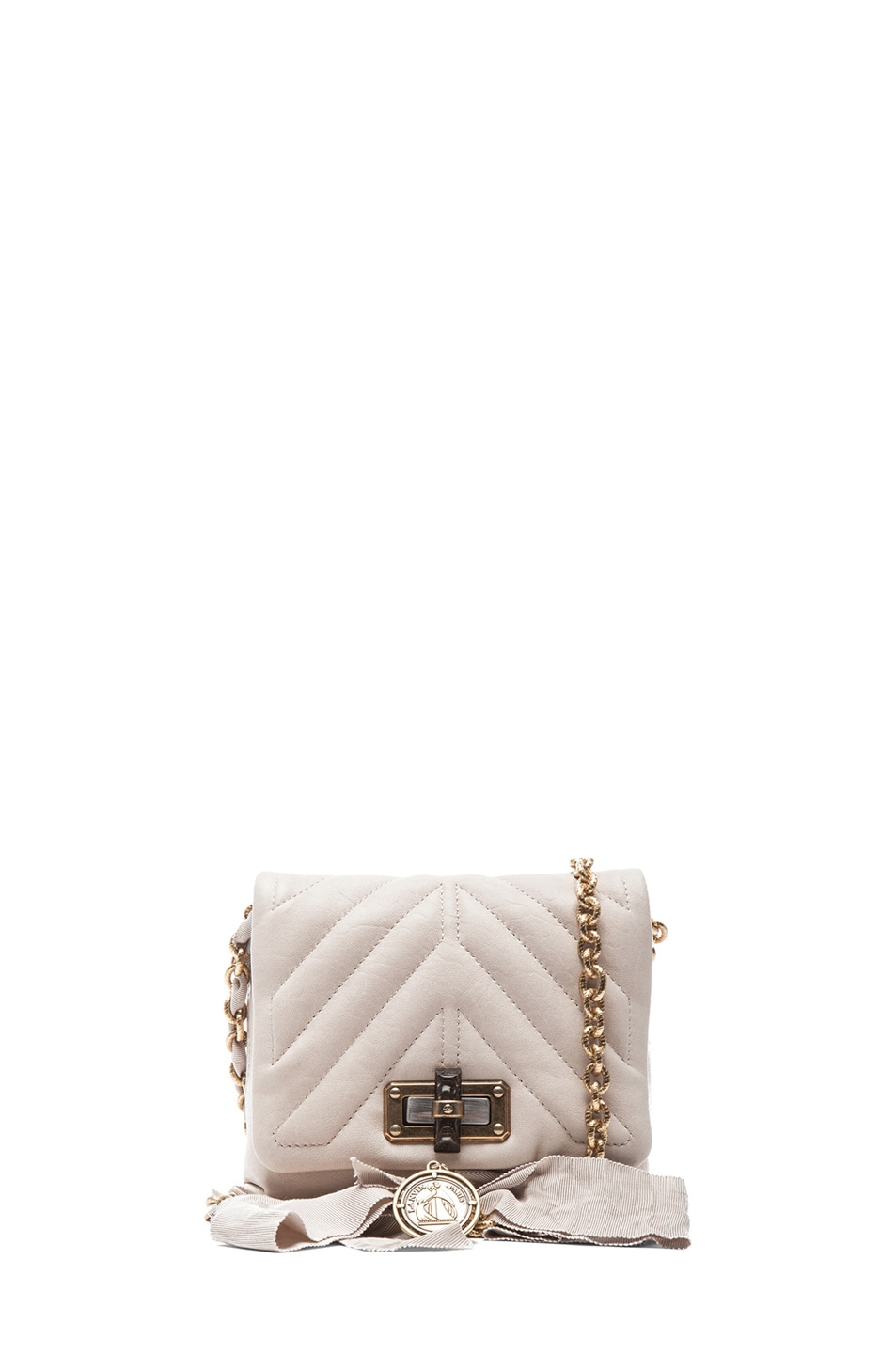 Image 1 of Lanvin Happy Quilted Mini in Ivory