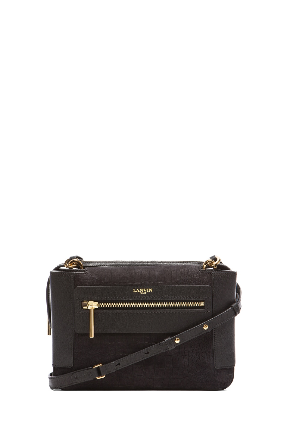 Image 1 of Lanvin Beyond Le Jour Medium Bag in Black