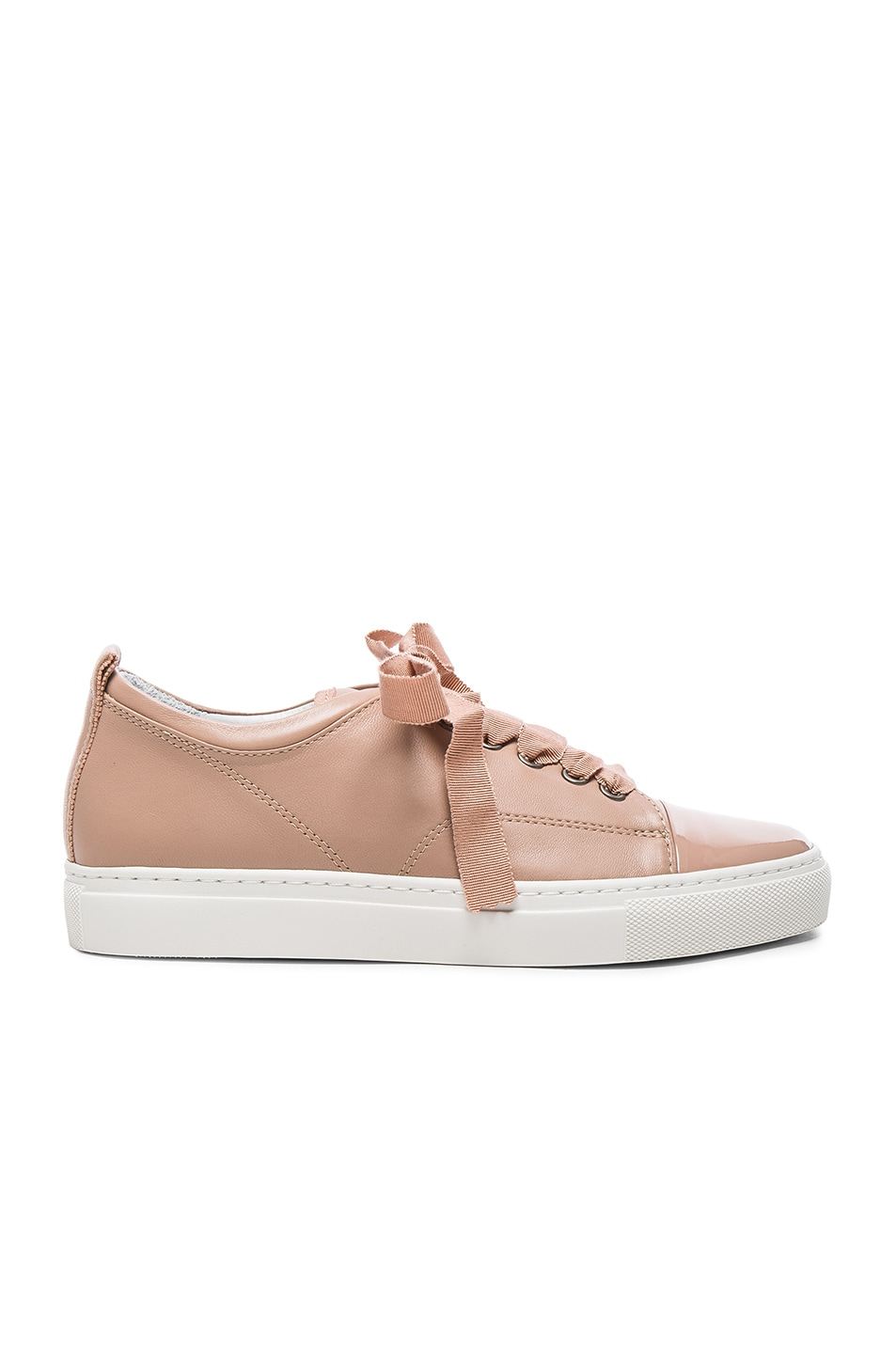 Image 1 of Lanvin Low Top Sneakers in Powder & Nude