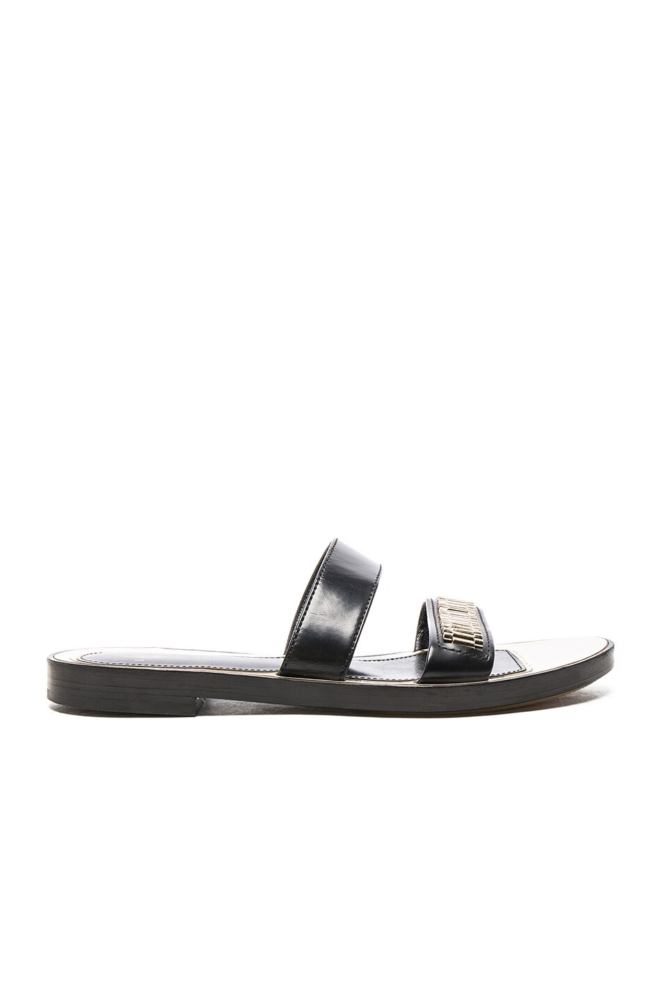 Image 1 of Lanvin Flat Chain Sandals in Black