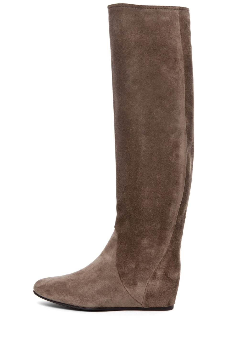 Image 1 of Lanvin Hidden Wedge Boot in Taupe