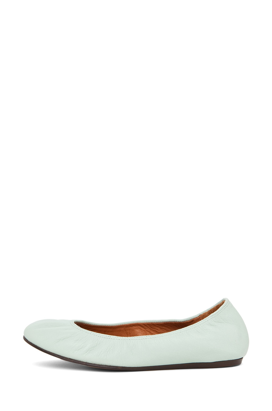 Image 1 of Lanvin Classic Ballerina Flat in Light Green