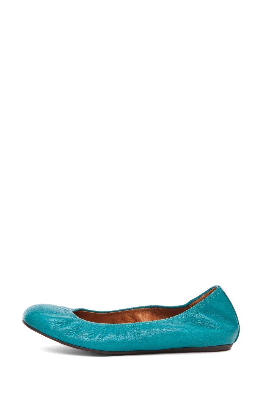 Image 1 of Lanvin Ballerina Flat in Bleu Canard