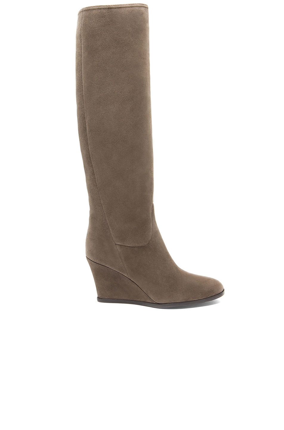 Image 1 of Lanvin Suede Wedge Boots in Grey