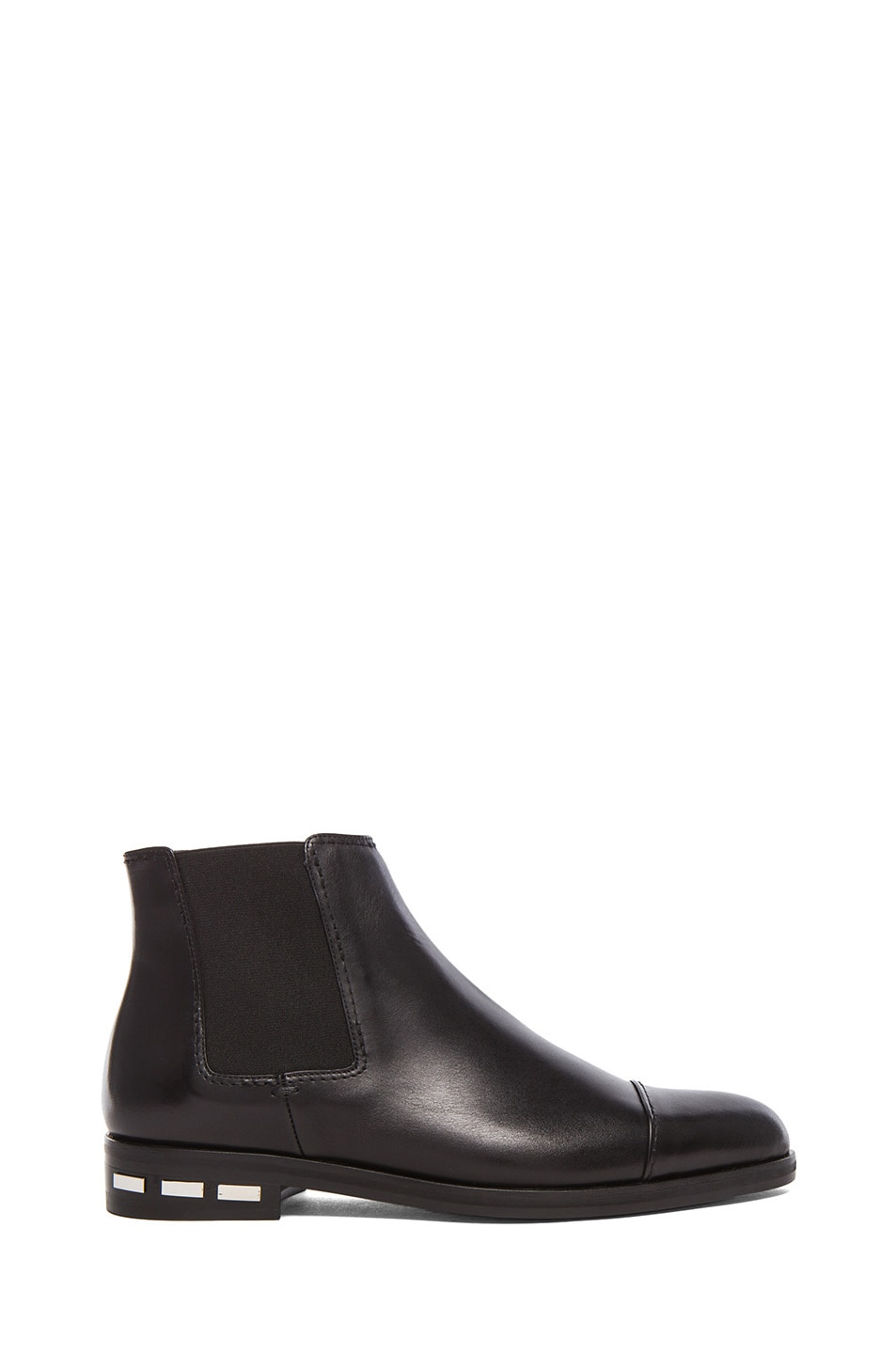 Image 1 of Lanvin Chelsea Leather Boots in Black