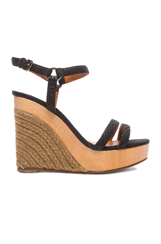 875d5708f6bd Image 1 of Lanvin Wedge Sandal Leather Espadrilles in Black
