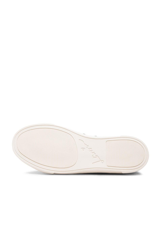 Image 6 of Lanvin Low Top Lambskin Sneakers in Black