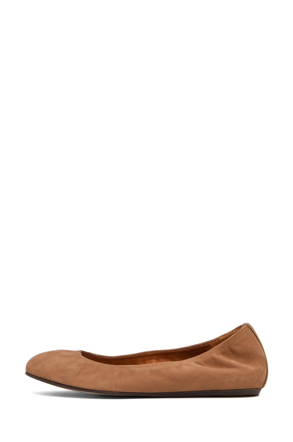 Image 1 of Lanvin Ballerina Flat in Brown