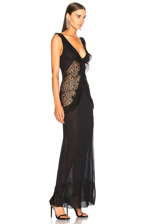 La Perla Quartz Garden Night Gown in Black   FWRD