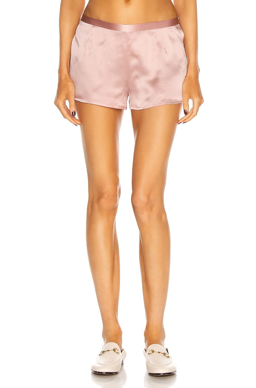 Image 1 of La Perla Silk Pajama Shorts in Pink Powder