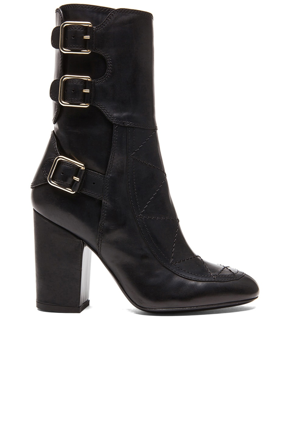 Image 1 of Laurence Dacade Merli Calfskin Leather Boots Shiny Calf in Black
